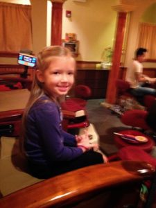 Pedicures with my niece...
