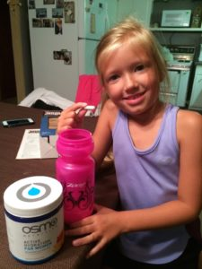 After my niece made my bike bottle the night before the Sisters Lakes Olympic Tri...